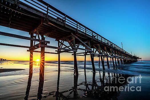 Cherry Grove Pier Sunrise by David Smith
