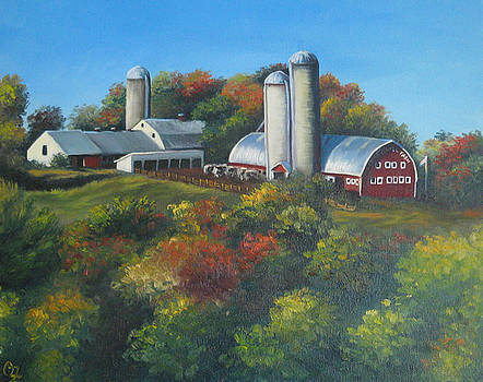 Cherry Hill Farm Lunenburg ma by Oksana Zotkina