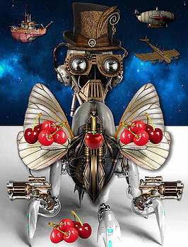Cherry Robot 1 Art by Marvin Blaine