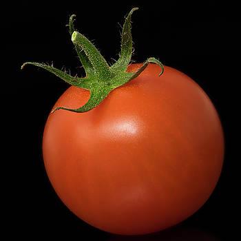 Vyacheslav Isaev - Red Cherry tomato on a black background