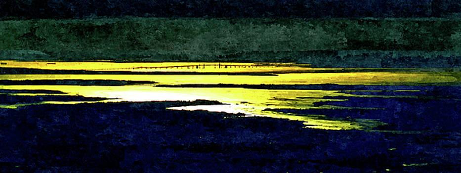 Chesapeake Bay Bridge Painterly Sunset by Bill Swartwout