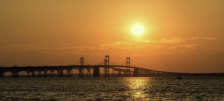 Chesapeake Bay Bridge Sunset I by Richard Macquade