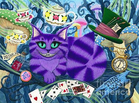 Cheshire Cat - Alice in Wonderland by Carrie Hawks