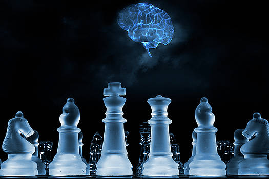 Chess Game And Human Brain by Christian Lagereek