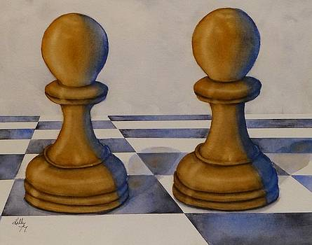 Chess Pieces by Kelly Mills