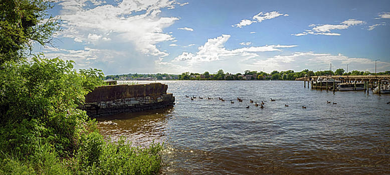 Chester River Pano - Chestertown MD by Brian Wallace