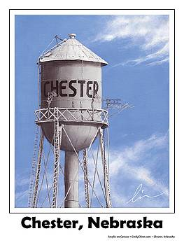 Chester Water Tower Poster by Cindy D Chinn
