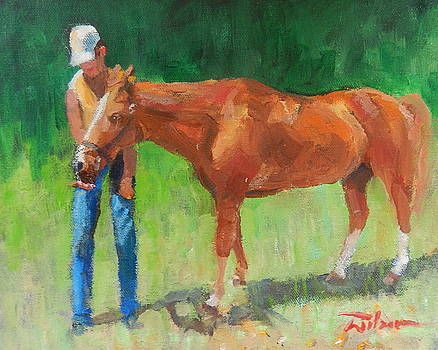 Chestnut the horse by Ron Wilson