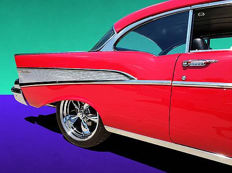 Chevrolet Bel Air Rear Panel Color Pop by Debi Dalio
