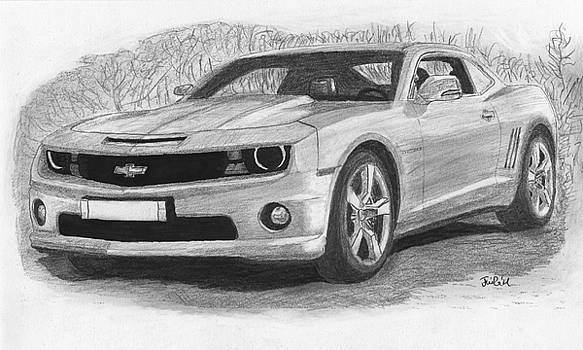 Chevrolet camaro sport car. by Kokas Art