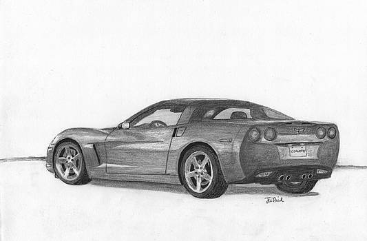 Chevrolet corvette sport car. by Kokas Art