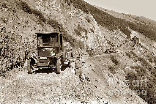 California Views Archives Mr Pat Hathaway Archives - Chevrolet truck on Highway One Big Sur  California 1926