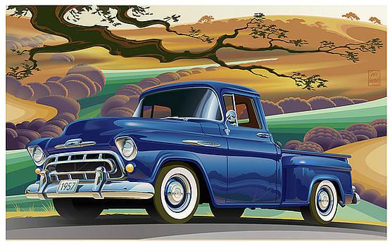 Garth Glazier - 1957 Chevrolet 3100 Truck Under a California Oak