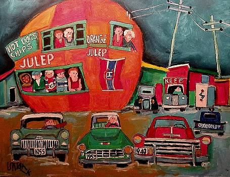 Chevrolets at the Orange Julep by Michael Litvack