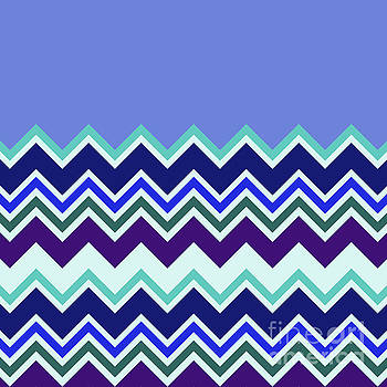 Chevron Lavender Turquoise Blue Purple Zigzag Pattern by Beverly Claire Kaiya