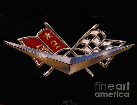 Chevy Flags  by Alan Johnson