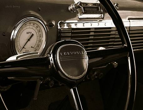 Chevy Pick Up Steering Wheel by Chris Berry