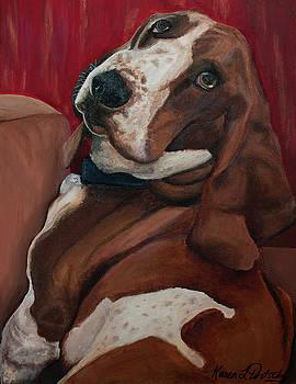 Chevy the Basset Hound by Karen Dortschy
