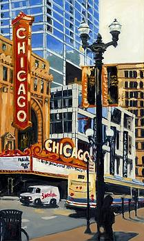 Chicago - The Chicago Theater by Robert Reeves