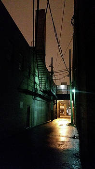 Chicago alley at night by Zac AlleyWalker Lowing