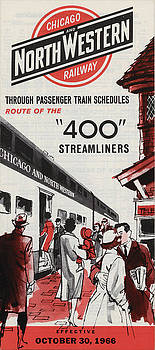 Chicago and North Western Historical Society - Chicago and North Western 400 Train Schedule