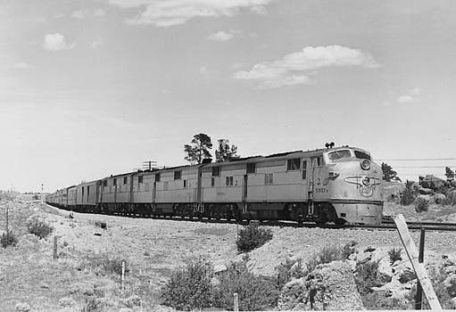 Chicago and North Western Historical Society - Diesel Locomotive Carrying Passengers