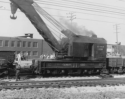 Chicago and North Western Historical Society - Chicago and North Western Heavy Rail Car Crane