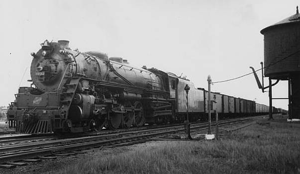 Chicago and North Western Historical Society - Chicago and North Western Railway Engine 3032 A Class H 4-8-2