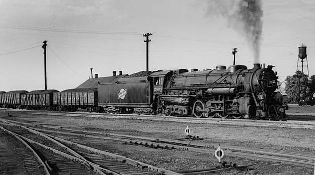 Chicago and North Western Historical Society - Steam Engine at South Pelon Illinois - 1936