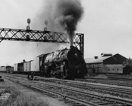 Chicago and North Western Historical Society - Steam Engine Hauls Freight in Illinois - 1948
