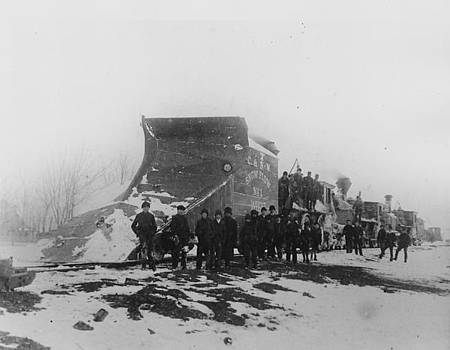 Chicago and North Western Historical Society - Chicago and North Western Railway Snow Plow at Work