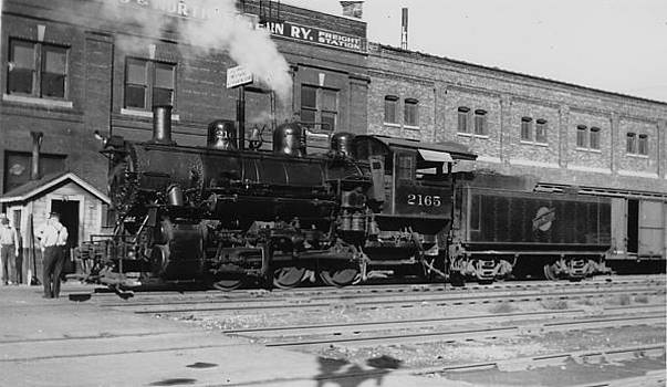 Chicago and North Western Historical Society - Chicago and North Western Steam Engine in Cedar Rapids