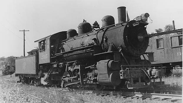 Chicago and North Western Historical Society -  Steam Engine in Wakefield Michigan - 1954