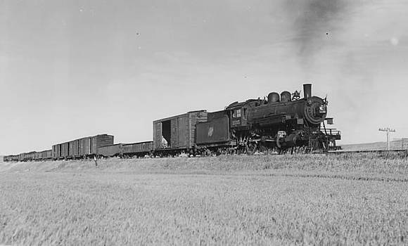 Chicago and North Western Historical Society - Steam Engine Near Rapid City Iowa