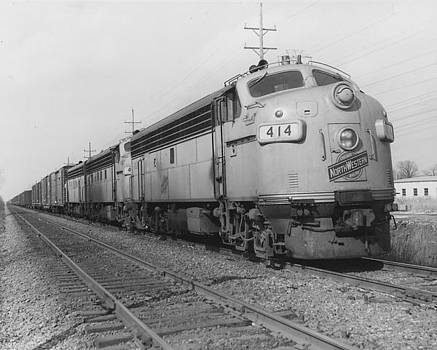 Chicago and North Western Historical Society - Diesel Train Carrying Passengers