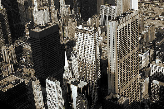Peter Potter - Chicago Architecture - Downtown Skyline 1981