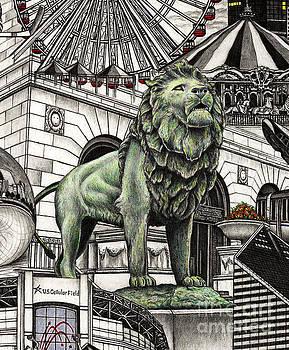 Chicago Art Institute Lion by Omoro Rahim