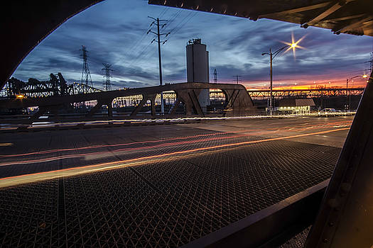 Chicago Bridge at dusk  by Sven Brogren