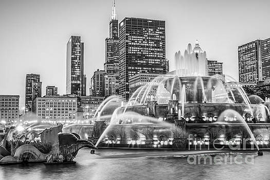 Paul Velgos - Chicago Buckingham Fountain Black and White Photo