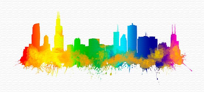 Vyacheslav Isaev - Chicago City rainbow skyline