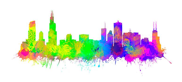 Vyacheslav Isaev - Chicago City skyline, brush orgy