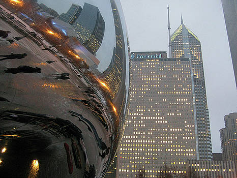 Chicago Cloud Gate. Reflections by Ausra Huntington nee Paulauskaite