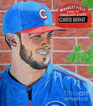Chicago Cubs Kris Bryant Portrait by Melissa Goodrich