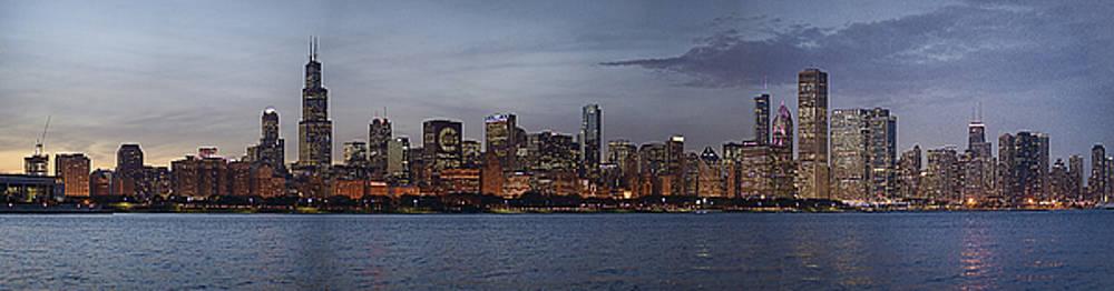 Chicago Cubs Baseball Skyline  by Patrick  Warneka