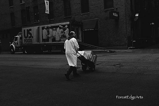 Chicago Delivery Man by Dick Bourgault