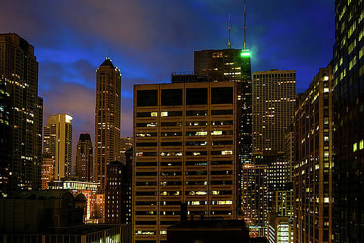 John McArthur - Chicago Downtown Night View