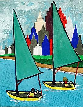Chicago Lakeshore Sailing by Jonathon Hansen