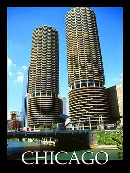 Art America Gallery Peter Potter - Chicago Poster - Marina City