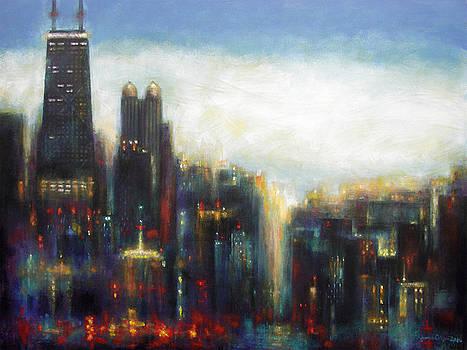 Chicago - Misty Morning by Joseph Catanzaro