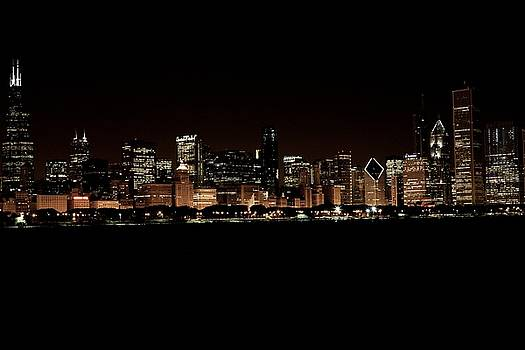 Chicago Night skyline by Miranda  Miranda